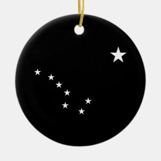 Black and White Big Dipper Ceramic Ornament