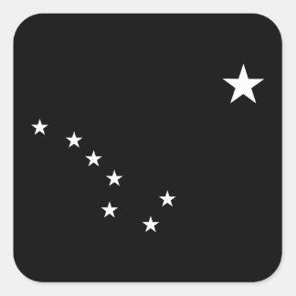 Black and White Big Dipper Square Sticker