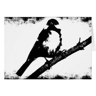 Black and White Bird Image Greeting Card