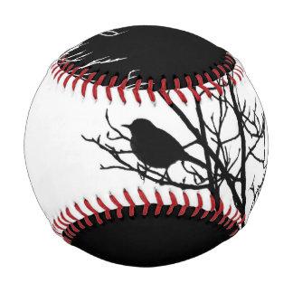 Black and White Bird Silhouette - Baseball