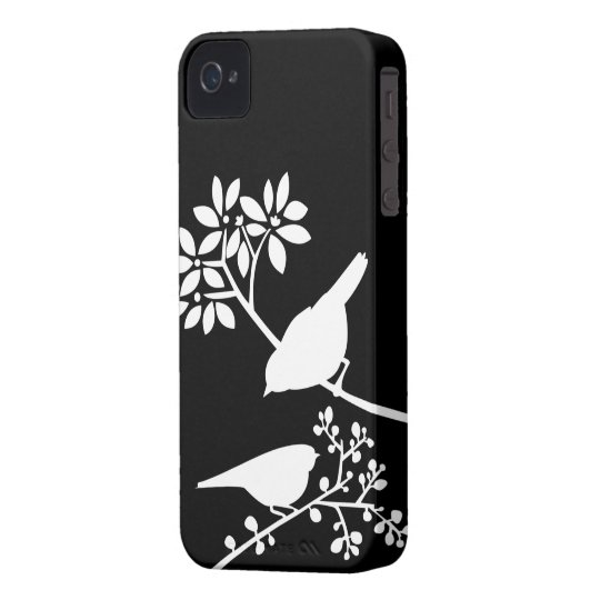 Black and White Birds Custom iPhone Case