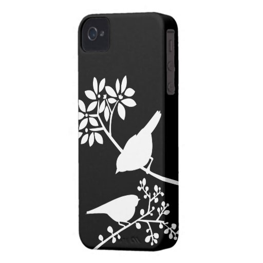 Black and White Birds Custom iPhone Case iPhone 4 Covers