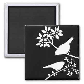 Black and White Birds Magnet