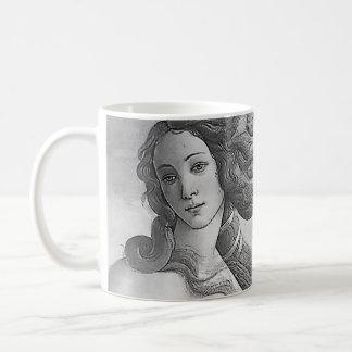 Black and White - Birh of Venus, Goddess Coffee Mug