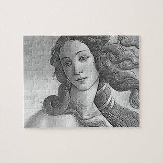 Black and White - Birh of Venus, Goddess Jigsaw Puzzle