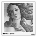 Black and White - Birh of Venus, Goddess Wall Sticker
