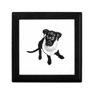 Black and White Black Lab Puppy image Gift Box