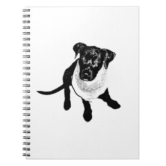 Black and White Black Lab Puppy image Notebook