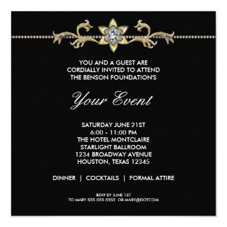 Black and White Black Tie Corporate Party Card