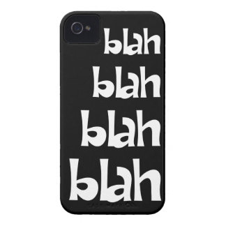 Black and White Blah Blah Blah iPhone 4s Case