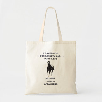 Black and White Blanket Appaloosa Tote Bag