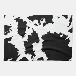 Black And White Blobs Towel
