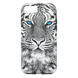 Black And White Blue Eyes Tiger design iPhone 8/7 Case