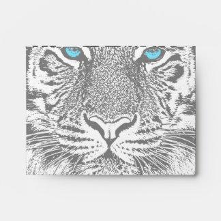Black And White Blue Eyes Tiger Graphic Envelope