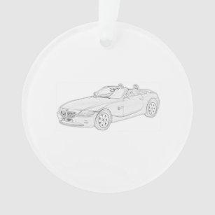 bmw ornaments keepsake ornaments zazzle BMW Z3 M Coupe Problems black and white bmw z4 pencil style drawing ornament