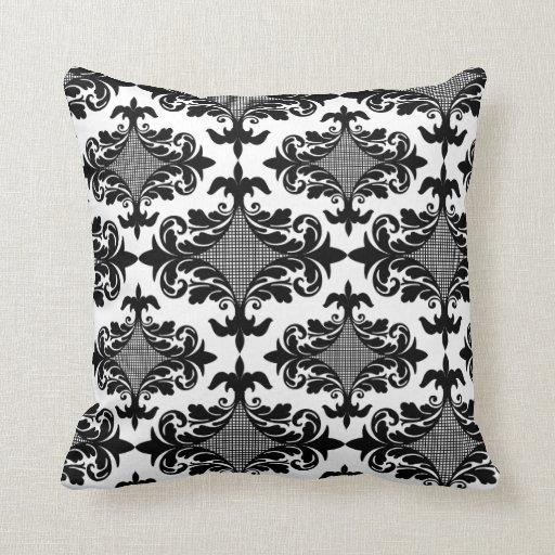 Black And White Boho Chic Throw Pillow Zazzle