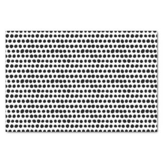 Black and White Bold Polka Dot pattern Tissue Paper
