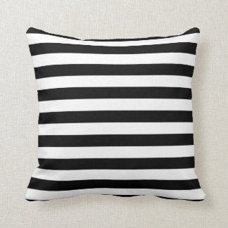 Black and White Bold Stripe Pillow