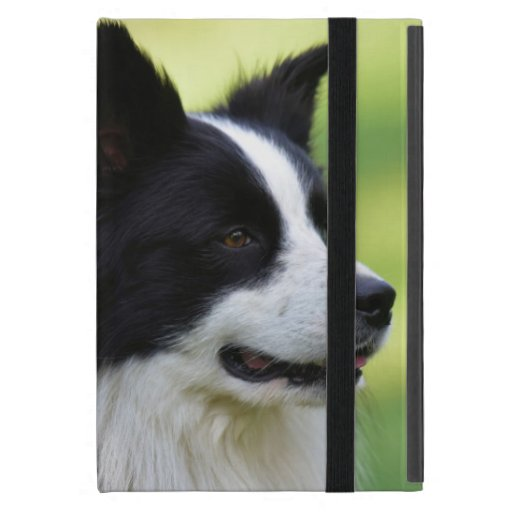Black and White Border Collie Dog Case For iPad Mini