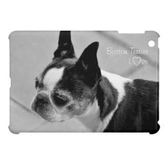 Black and White Boston Terrier Case For The iPad Mini