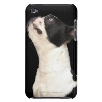 Black and white Boston Terrier looking up Case-Mate iPod Touch Case