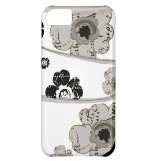 Black and White Bouquet of French script flowers iPhone 5C Cases