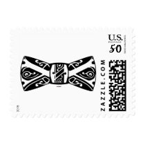 Black and White Bow Tie Postage