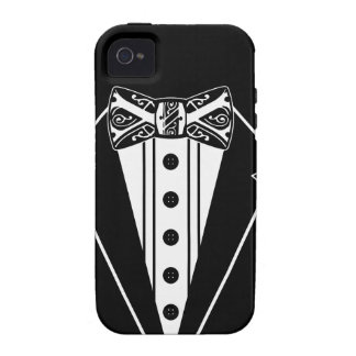 Black and White Bow Tie with Tux iPhone 4 Case