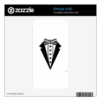 Black and White Bow Tie with Tux iPhone 4 Skins