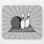 black and white bowling alley design mousepads