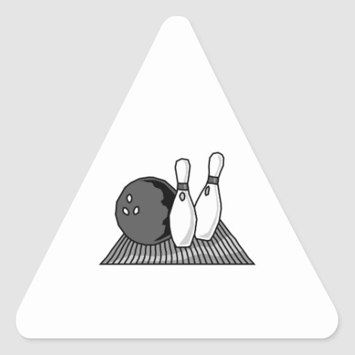 black and white bowling alley design triangle stickers