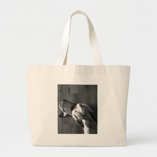 Black and White Boxer Love Canvas Bag