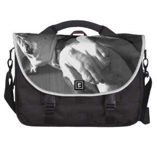 Black and White Boxer Love Commuter Bag