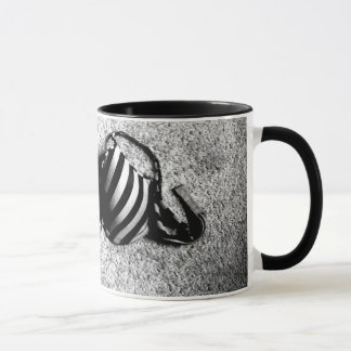 Black and White bra mug