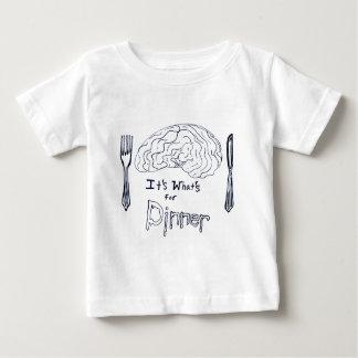 Black and White Brains for Dinner Baby T-Shirt