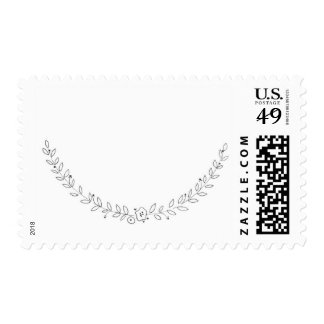 Black and White Branches Postage Stamp