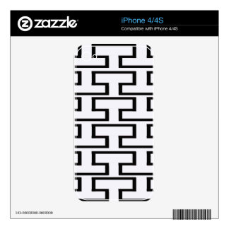 Black and White Bricks iPhone 4S Decal