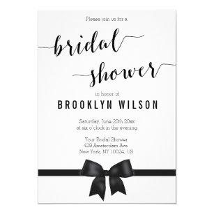 Bow bridal shower invitations zazzle black and white bridal shower invitations bow filmwisefo