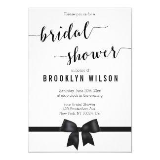 Black and white bridal shower invitations announcements for Black and white bridal shower invitations