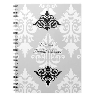 Black and White Bridal Shower Notebook