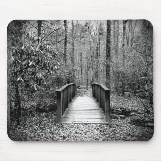Black and White Bridge Mouse Pad