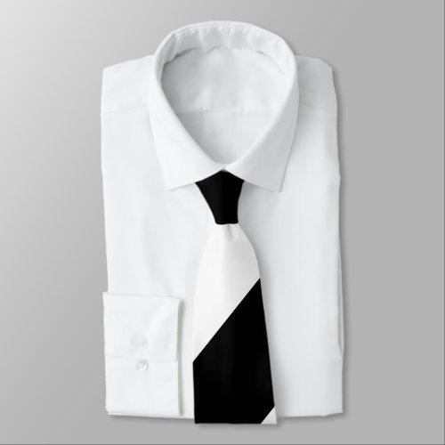 Black and White Broad Regimental Stripe Tie