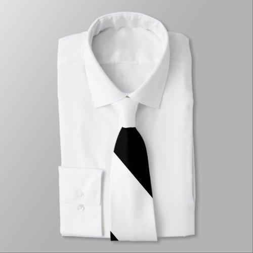 Black and White Broad University Stripe Tie