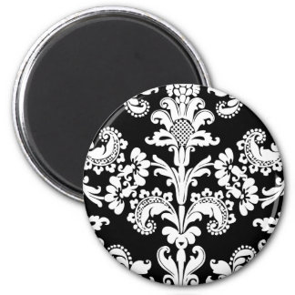Black and White Brocade Magnet