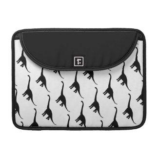 Black and White Brontosaurus Dinosaurs Pattern Sleeve For MacBooks