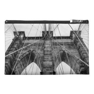 Black and White Brooklyn Bridge Photo NYC Travel Accessories Bag