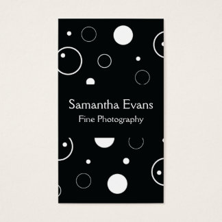 Black and White Bubbles Business Card
