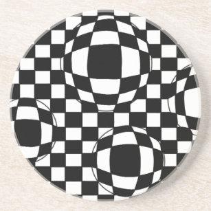 black white checkered and drink beverage coasters zazzle Cork Flooring Kitchen black and white bubbles coaster