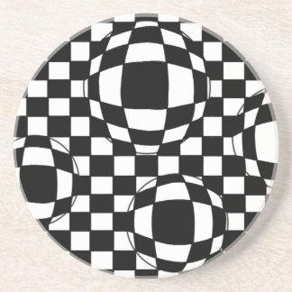 Black and White Bubbles Coaster