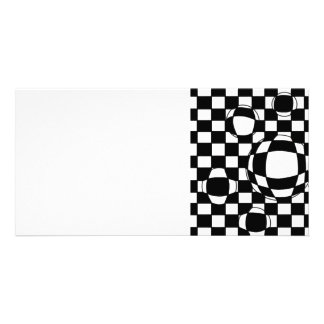 Black and White Bubbles Photo Card